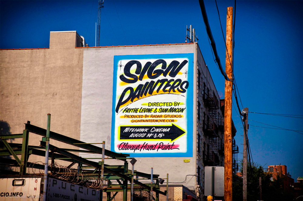 Cartel mural del documental Sign Painters.