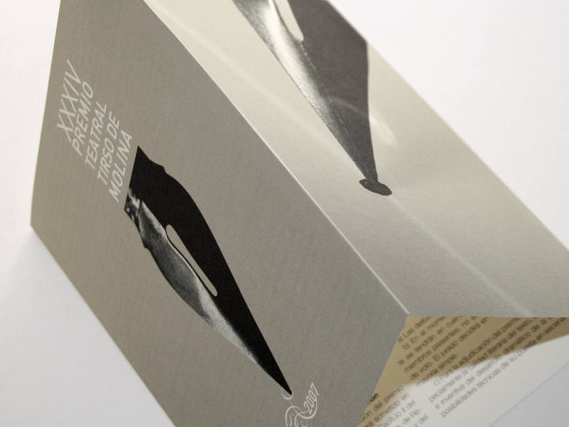 Premio Tirso Molina 1. Diseño gráfico, A. Alejandro Lopez Martinez