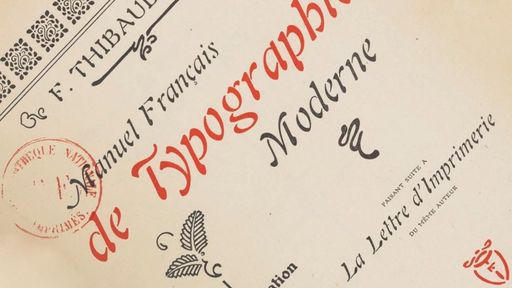 Manuel Francais Typographie Moderne