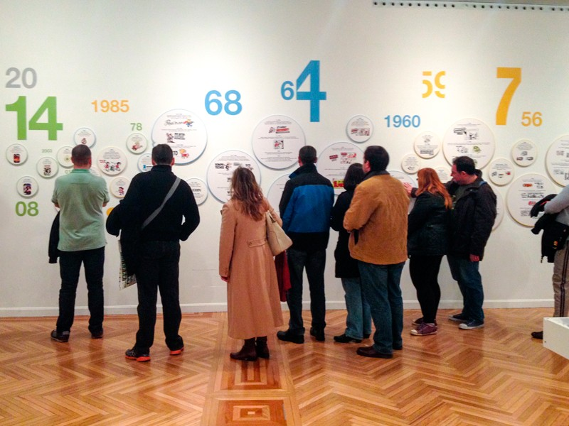 Exposición Francisco Ibanez en el CBA de Madrid 1. Diseño gráfico, A. Alejandro Lopez Martinez