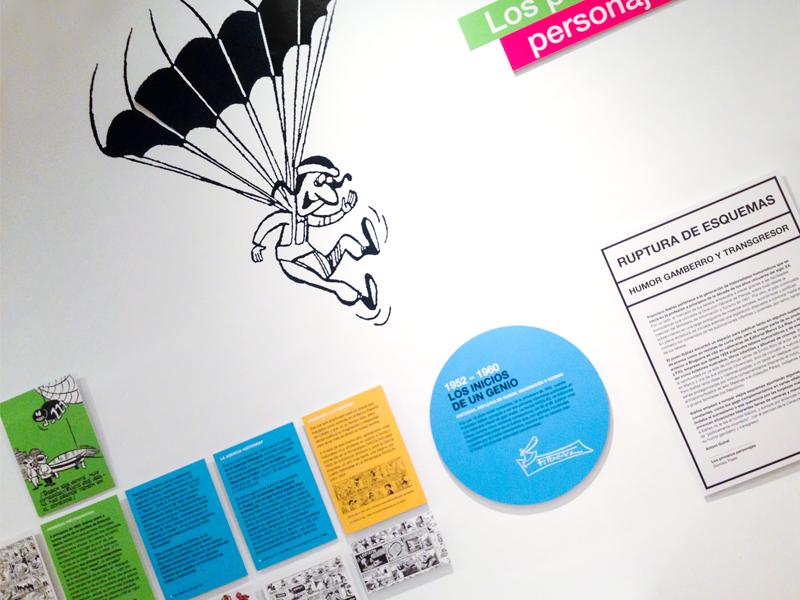 Exposición Francisco Ibáñez. El Mago del Humor en el CBA de Madrid. Diseño gráfico, A. Alejandro Lopez Martinez