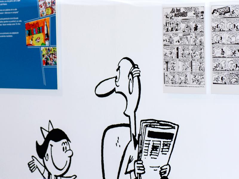 Exposición Francisco Ibañez en el CBA de Madrid. Diseño gráfico, A. Alejandro Lopez Martinez