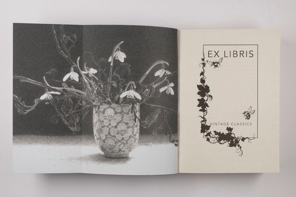 Guarda y primera página, libro de las hermanas Brontë
