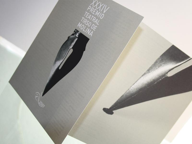 Premio Teatro Tirso de Molina 3. Diseño gráfico, A. Alejandro Lopez Martinez