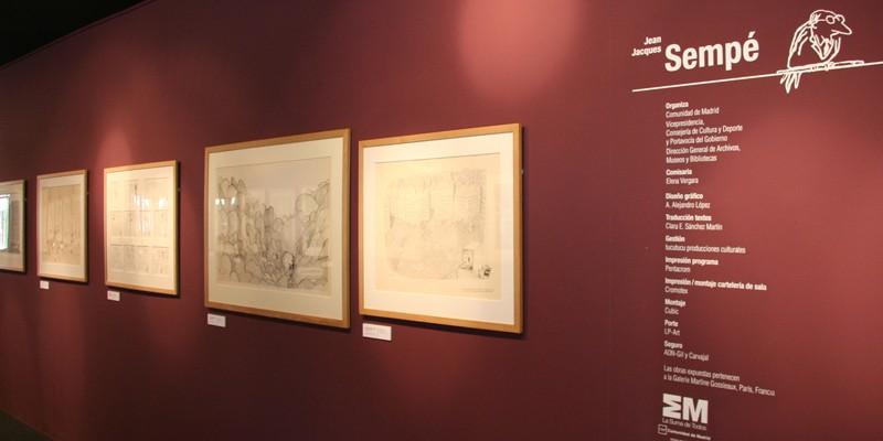 Exposición Sempe Feria Libro Madrid-3. Diseño gráfico, A. Alejandro Lopez Martinez
