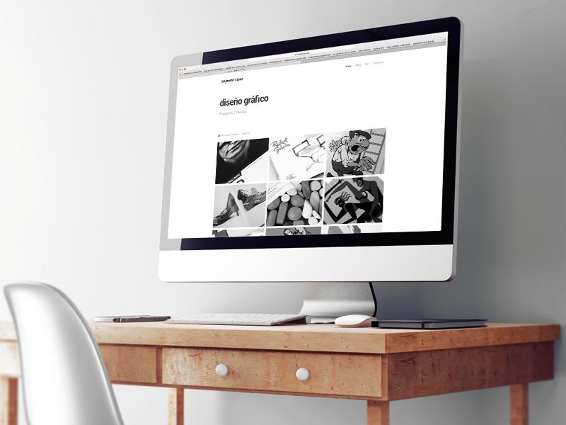 Website Alejandro Lopez Martinez diseño gráfico. Diseño gráfico, A. Alejandro Lopez Martinez