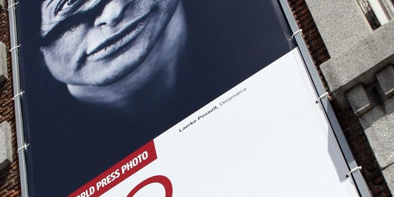 Cartel exterior, World Press Photo edición Madrid. Diseño gráfico, A. Alejandro Lopez Martinez
