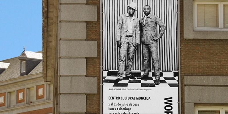 World Press Photo cartel exterior de la exposición, Madrid 2010. Diseño gráfico, A. Alejandro Lopez Martinez