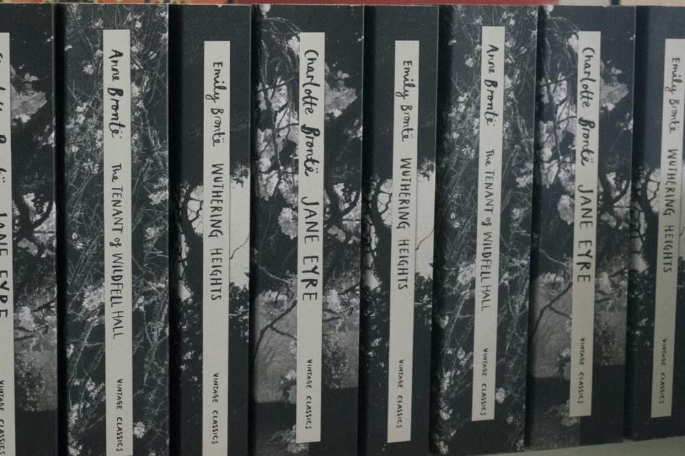 Lomos de cubierta. Libros hermanas Brontë
