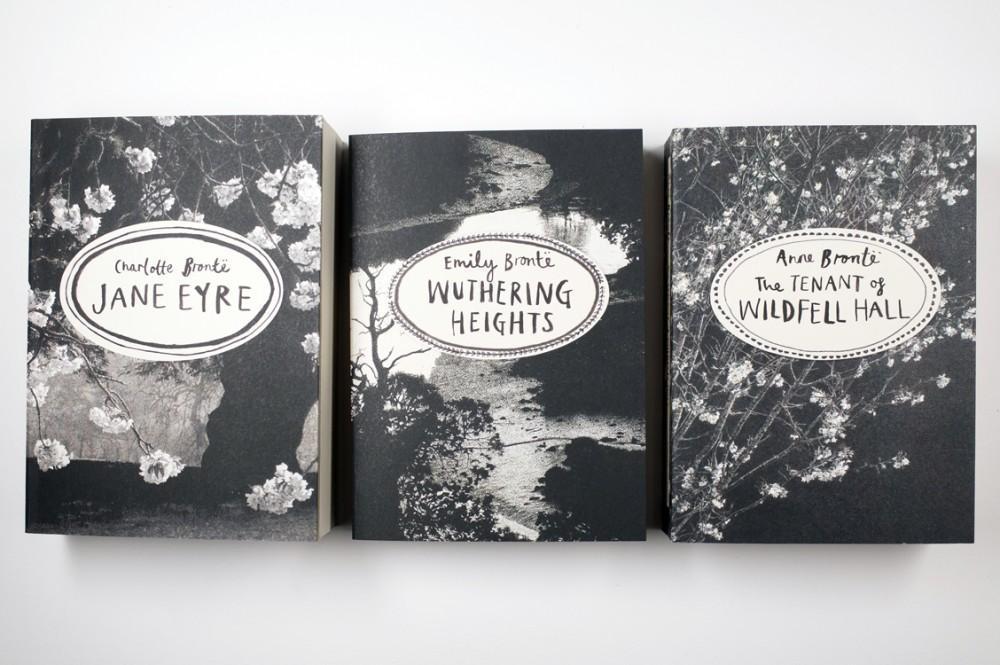 Cubierta de libro de las hermanas Brontë