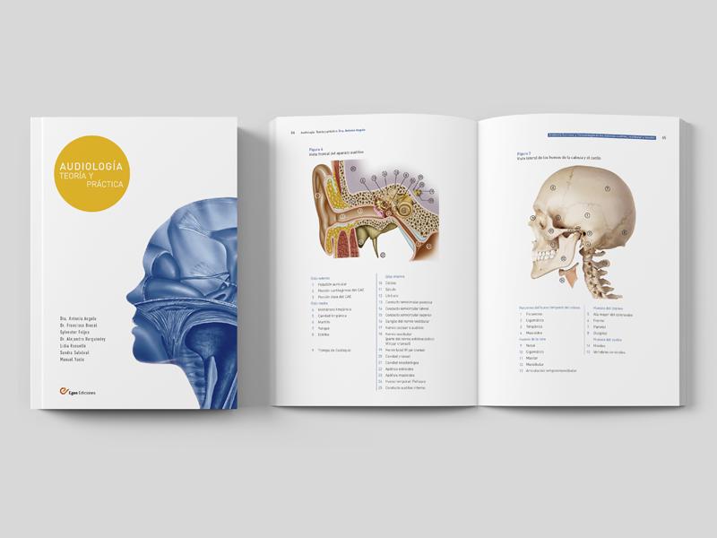 Audiologia: Teoría y Práctica 05 Doble página y cubierta. Diseño gráfico Alejandro Lopez