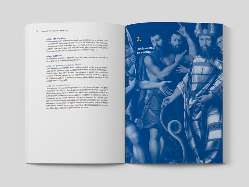 Audiologia: Teoría y Práctica 03. Doble página. Diseño gráfico Alejandro Lopez