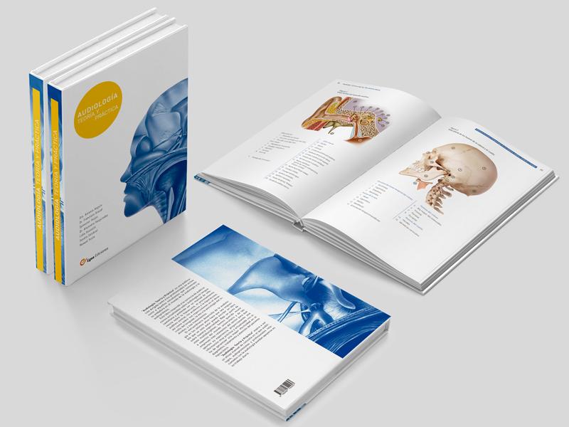 Audiologia: Teoría y Práctica 07. Doble página. Diseño gráfico Alejandro Lopez