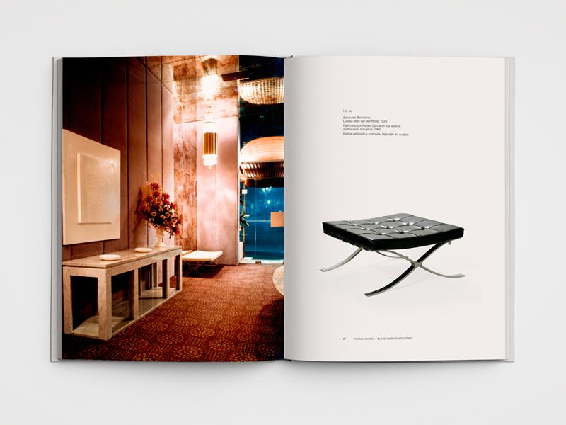 Catálogo Rafael Garcia, Decoraciones y Muebles Museo Nacional de Artes Decorativas de Madrid. Diseño gráfico, A. Alejandro Lopez Martinez